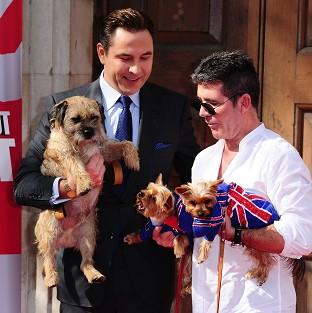 Simon Cowell and David Walliams took their dogs to the Britain's Got Talent launch