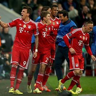 Mario Mandzukic, left, celebrates after scoring the equaliser