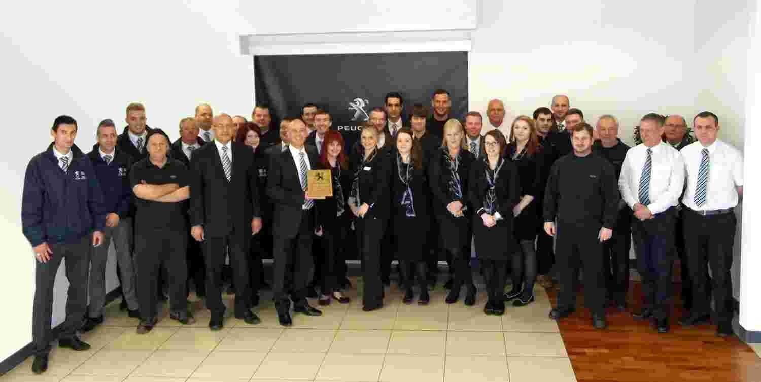 City Peugeot dealership wins the Guild of Gold Award