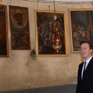David Cameron has reportedly spoken about religious matters as Easter approaches