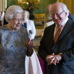 Hampshire Chronicle: The Queen and Irish president Michael D Higgins in Windsor Castle