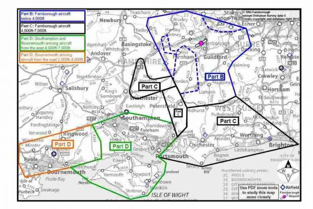 Hampshire Chronicle: This diagram shows the areas that will be affected by the plans