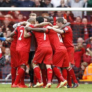 Liverpool celebrate after th