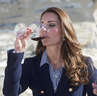 Hampshire Chronicle: The Duchess of Cambridge told wine-makers she was really enjoying being able to drink again after giving birth.