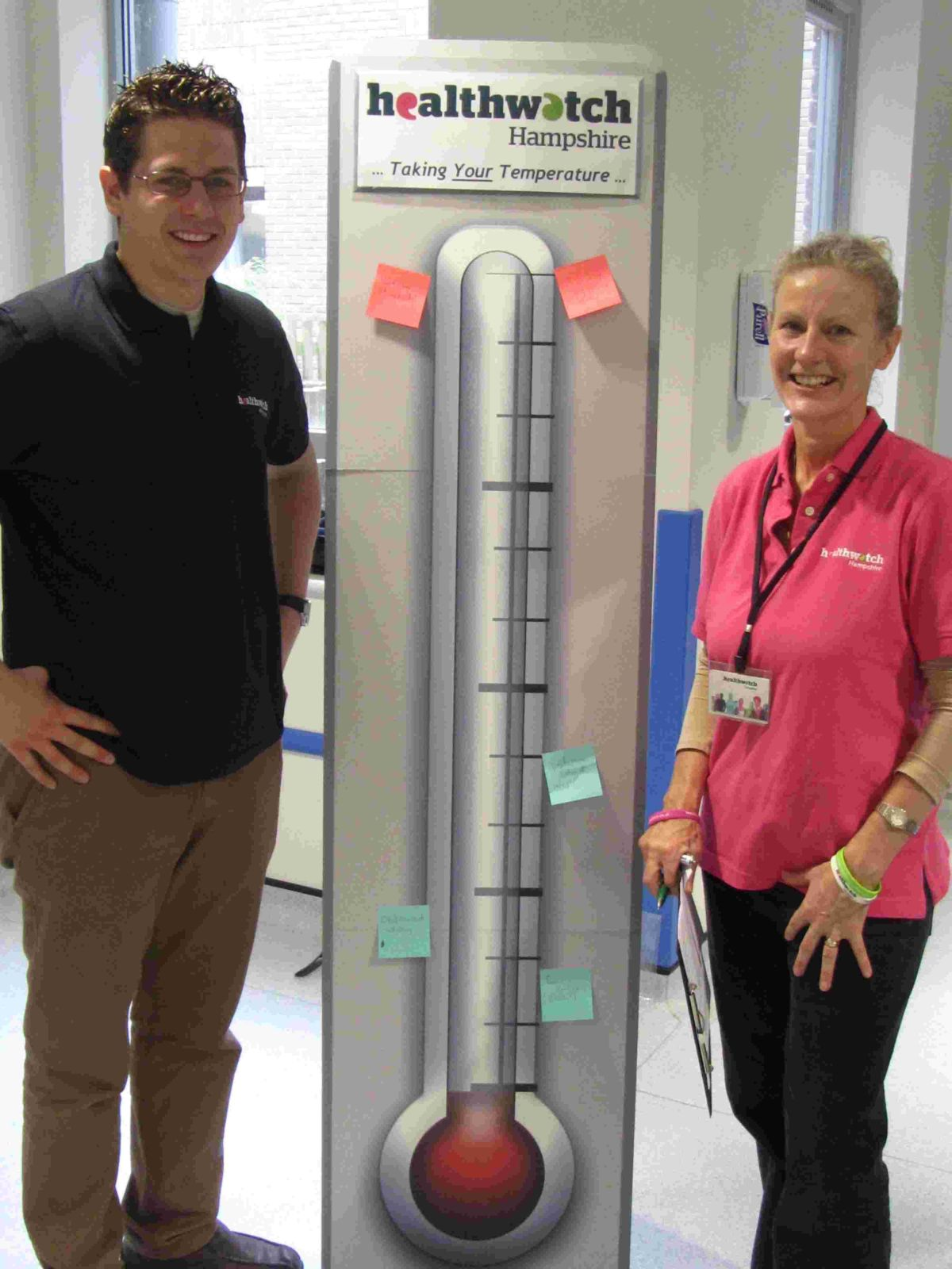 Steve Taylor, manager, with Sally Ann Wakeford, research officer