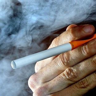 Firefighters have warned of the dangers of e-cigarettes