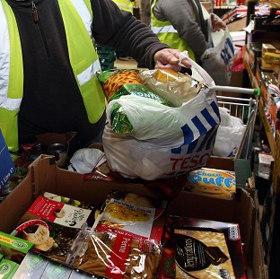 'Shocking' rise in food banks use