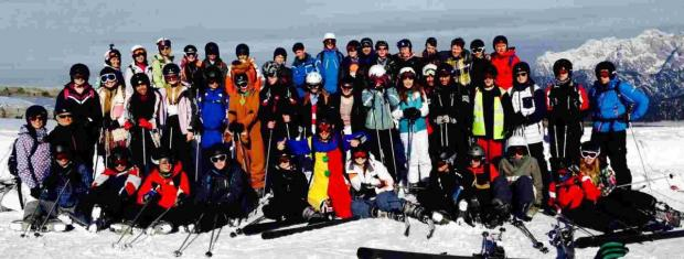 A team of teachers took 42 students from Wyvern Technology College to Saalbach in Austria