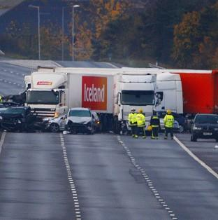 A coroner has ruled out smoke from a firework display as the cause of a multiple crash on the M5 motorway near Taunton in November 2011 in which seven people were killed