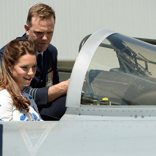 Kate takes controls in fighter jet
