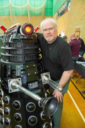 The sixth incarnation of the Doctor, Colin Baker, joined with former technicians and other crew members at an event.
