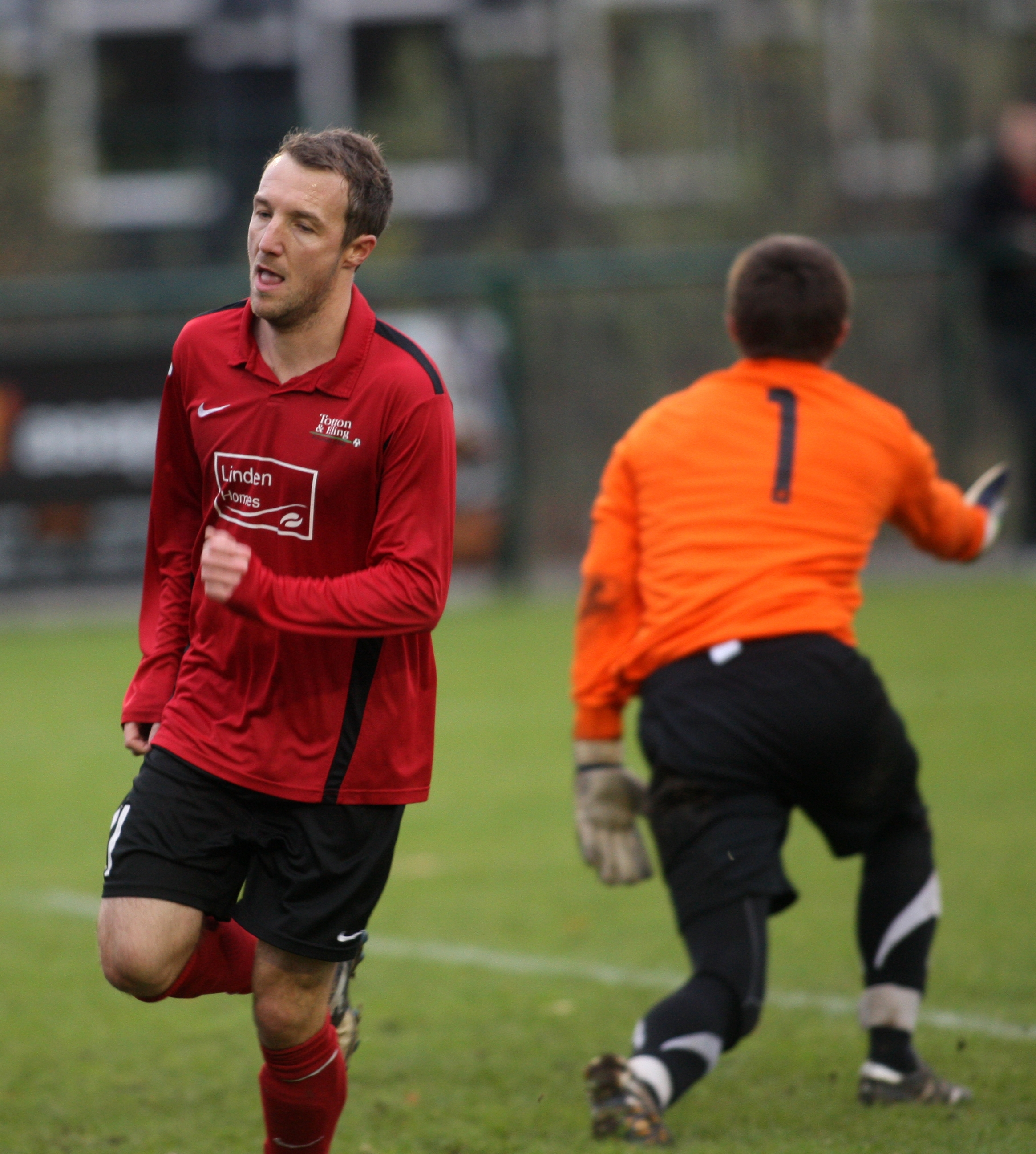 Steve Jenkin scored Stoneham's leveller against Locks Heath