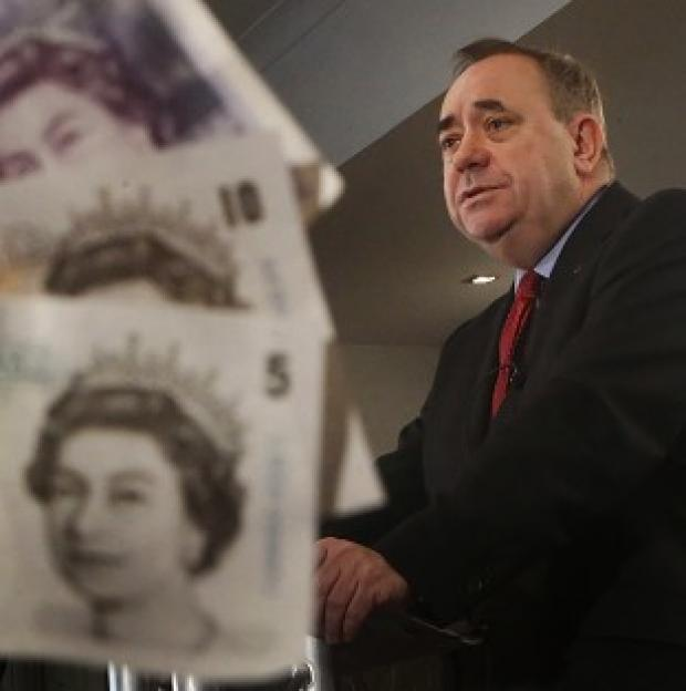 Hampshire Chronicle: Mr Salmond will again insist that Scotland will keep the pound, despite the pointed refusal of all major UK parties to agree to a currency union
