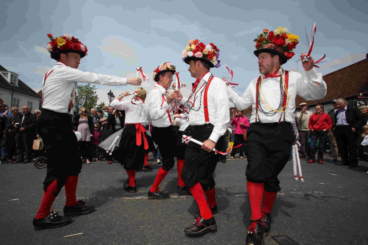Basingclog Morris dancers at last year's event