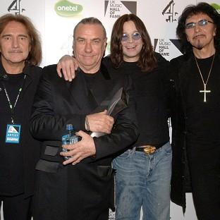 Bill Ward, second from le