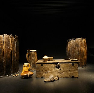 Artifacts brought from the sea bed of The Solent and preserved on display at the new Mary Rose Museum