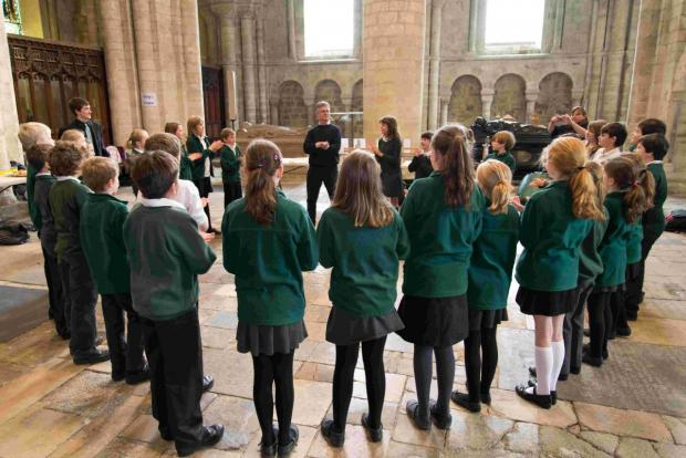 Cheriton Primary School pupils learned about the pipe organ at a special workshop held a