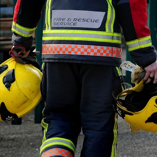 Firefighters tackled the blaze at the house in Garforth in which two people died