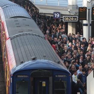 Commuters at Waterloo station on the second day of a 48-hour strike by tube workers