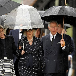 Camilla mourns brother at funeral