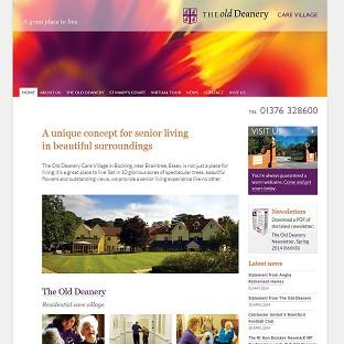 The home page of the Old Deanery Care Home in Braintree, Essex, run by Anglia Retirement Homes Ltd