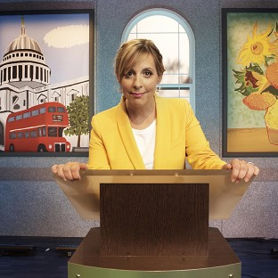 Mel Giedroyc presents new game show Draw It!
