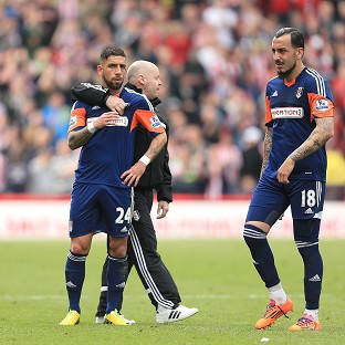 Fulham were relegated following their defeat at Stoke and Sunderland's victory over Manchester United