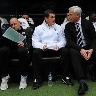 Alan Pardew, right, endured strong criticism from Newcastle fans