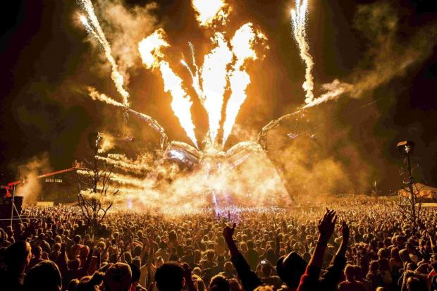 Fireworks at BoomTown last year