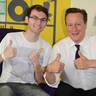 Hampshire Chronicle: Stephen Sutton was discharged from hospital hours after meeting David Cameron