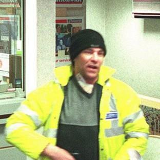 Hampshire Chronicle: Michael Wheatley carrying out an armed raid