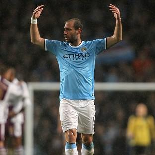 Pablo Zabaleta hopes to be celebrating come 5pm on Sunday