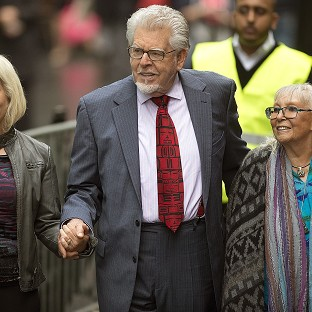 Rolf Harris arrives at Southwark Crown Court in central London