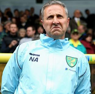 Neil Adams, pictured, could not halt Norwich's slide towards relegation after replacing Chris Hughton in April