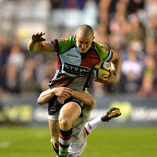 England and Harlequins full-back Mike Brown claimed the Aviva Premiership Player of the Season award