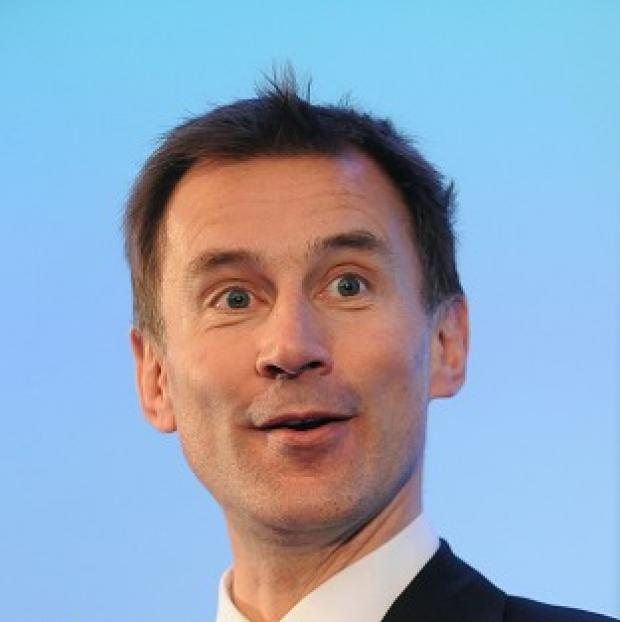 Hampshire Chronicle: Health Secretary Jeremy Hunt was accused of giving money to senior NHS managers rather than frontline staff