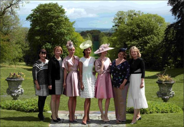 Lucy Cowie and Pam Healy of The Haven, models Christine Pillow, Sherry Walker and Natalie Quere, with Vivien Sheriff and Moda Rosa owner, Rosie Wild.