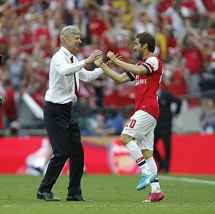 Arsene Wenger, left, praised