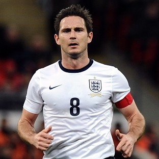 Frank Lampard will be England's vice-captain in Brazil