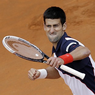 Novak Djokovic, pictured, handed Rafael Nadal a rare defeat on clay (AP)