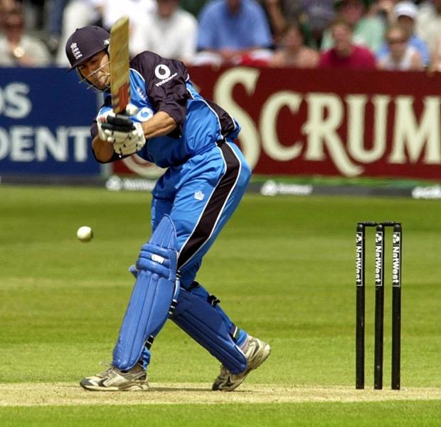 Owais Shah in action for England