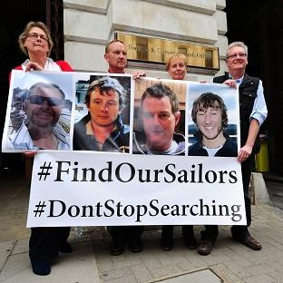 Hampshire Chronicle: Relatives of the missing yachtsmen pressed for the search to continue