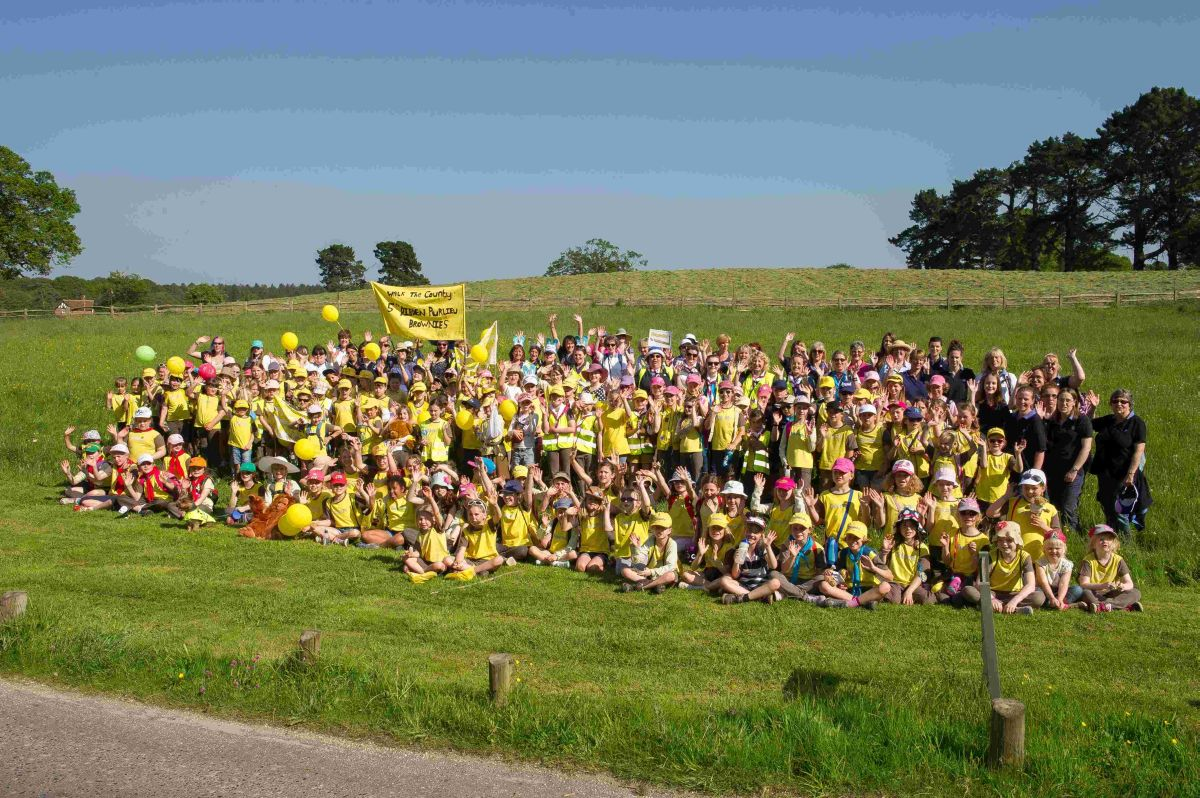 The Brownies gathered to celebrate 100 years near Lyndhurst