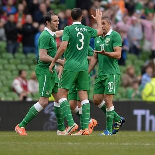 Jon Walters, right, scored for Ireland but they fell to a loss against Turkey