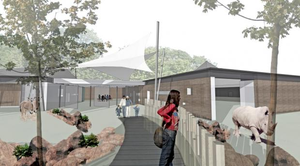 Hampshire Chronicle: The new enclosure will be better suited to house the zoo's rhinos, antelopes and zebras