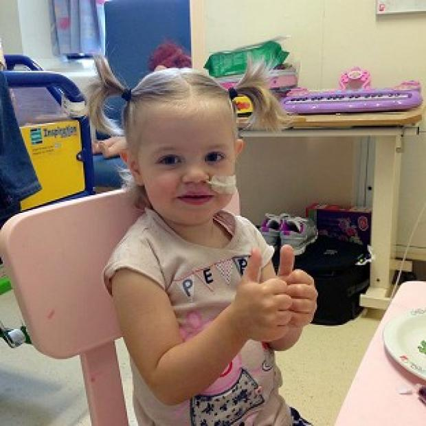 Hampshire Chronicle: Sienna Riley gives a thumbs up to the memory of Stephen Sutton