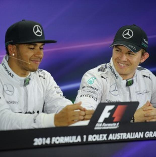 Hampshire Chronicle: Lewis Hamilton, left, has held constructive talks with German team-mate Nico Rosberg