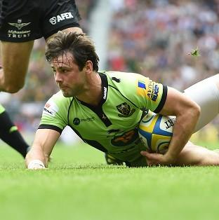 Hampshire Chronicle: Ben Foden scored the game's first try as Northampton won the Aviva Premiership