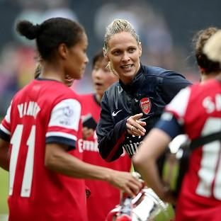 Shelley Kerr, centre, was given a winning send-off by her Arsenal side