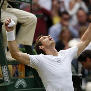 Andy Murray celebrates defeating Fernando Verdasco, who he plays in the French Open on Monday, in five sets at Wimbledon last year